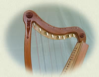 harp celtic 26 string lap harp solid wood